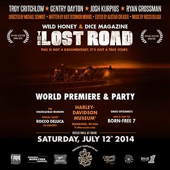 The Lost Road premiere and party. Saturday July 12th at the Harley Museum, Milwaukee.