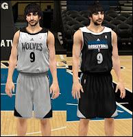 NBA 2K13 Minnesota Timberwolves Practice Jersey Mod