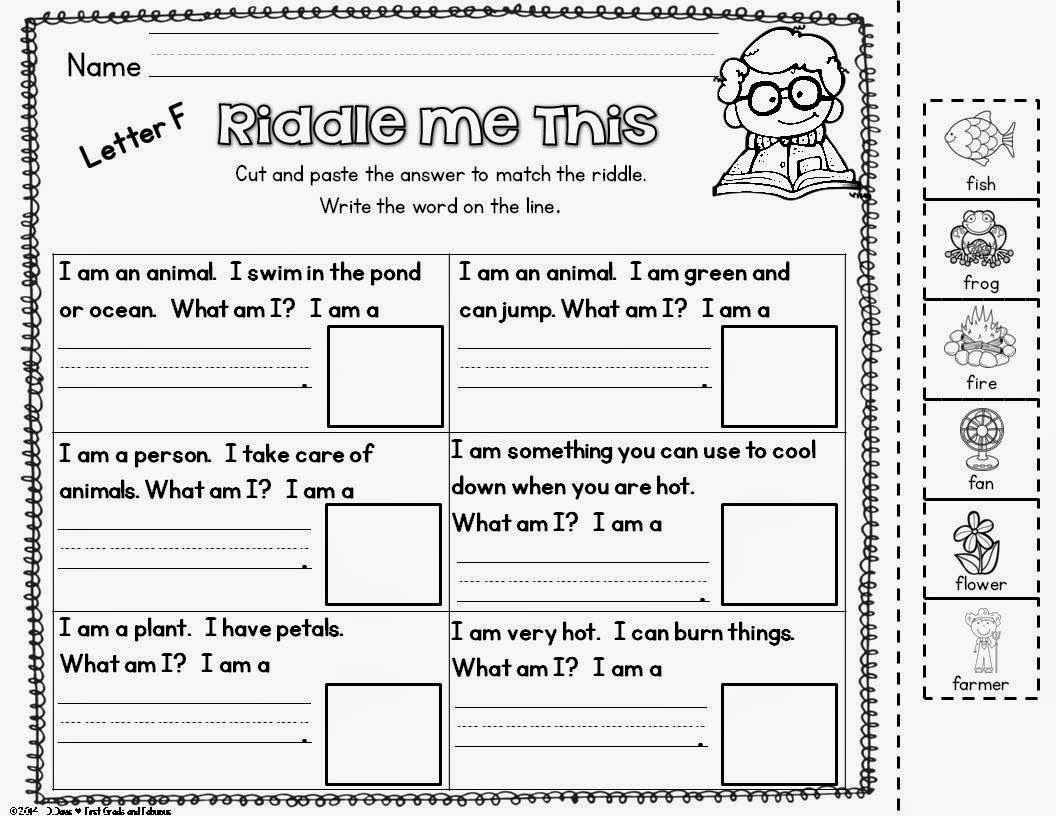 Riddle Me This-First Grade and Fabulous