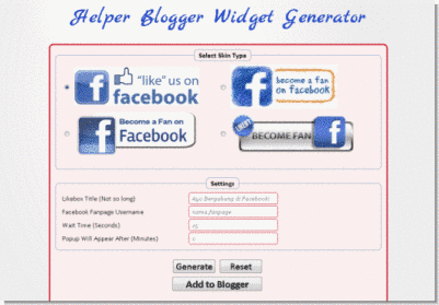 facebook-popups-likebox-widget-generator