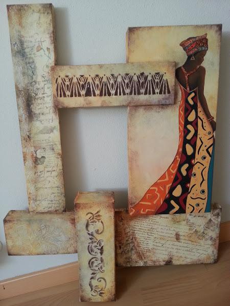 Cuadros africanas for Cuadros manualidades modernos