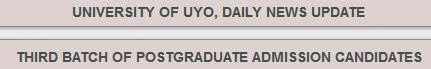 Uniuyo Post graduate news