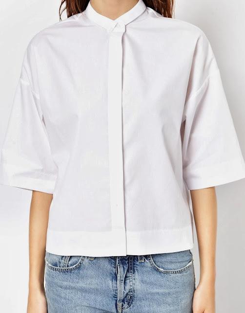 white short sleeved blouse