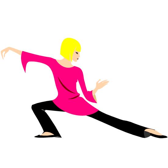 Mujer haciendo Tai chi (rosa)