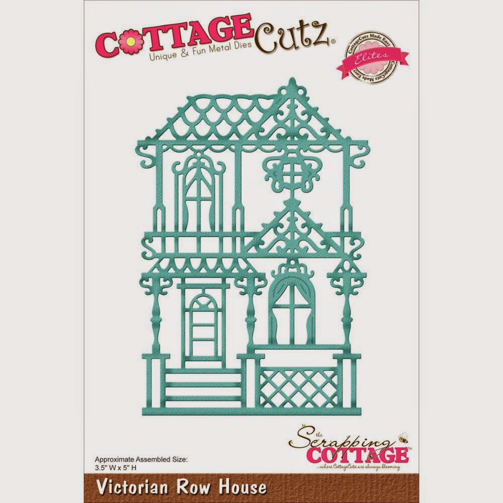 Victorian row house die from COTTAGECUTZ