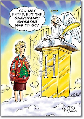 Ugly Christmas Sweater Cartoon