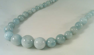 Aquamarine beads