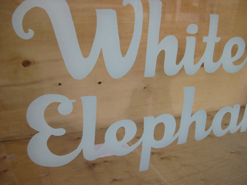 white elephant sign