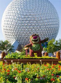 EPCOT Entrance during the International Flower and Garden Festival