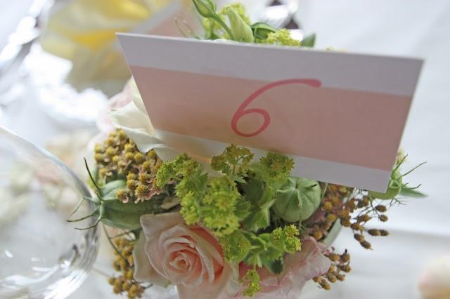Tischnummern - table numbers - Blush Wedding