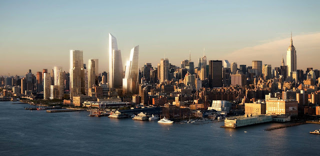 Photo of new towers and the New York skyline