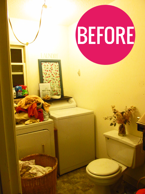 Bathroom/Laundry Room Makeovers the house on hillbrook: laundry room makeover on the cheap