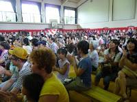 竹の里小体育館は大勢の人
