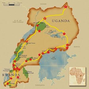 Mapa Uganda e Rwanda Fábia e Thijs 2014