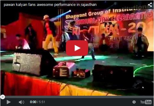 pawan kalyan fans awesome performance in rajasthan