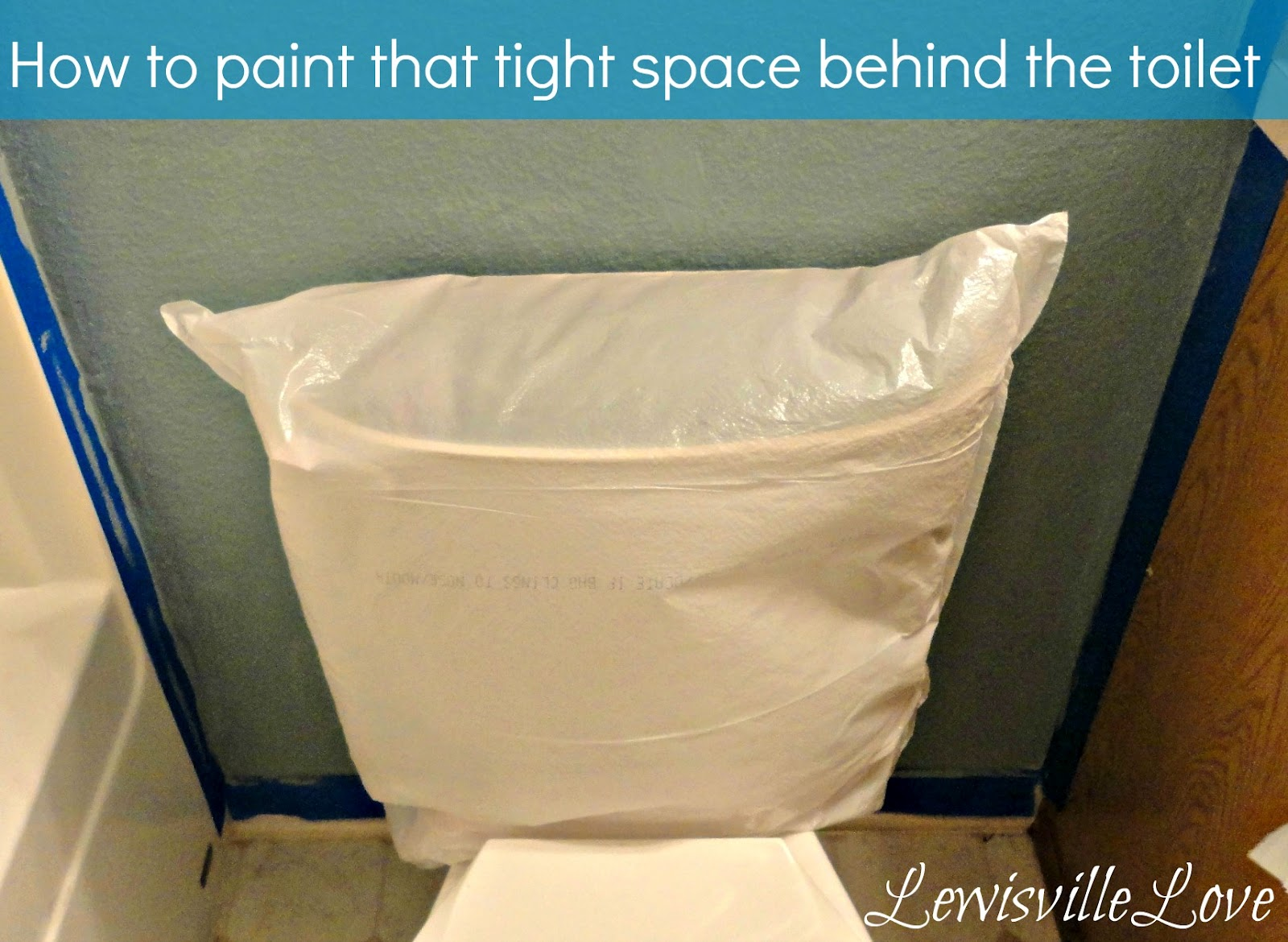Lewisville love painting that pesky tight area behind the toilet for How to paint a bathroom behind toilet