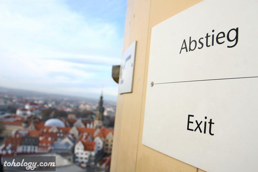 A view from Frauenkirche Dresden observation deck / Вид со смотровой площадки Фрауэнкирхе Дрезден