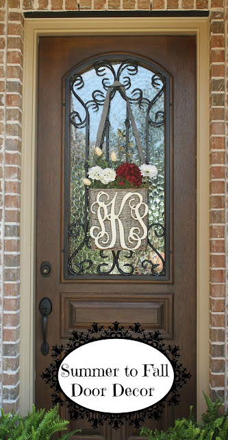 monogrammed door basket