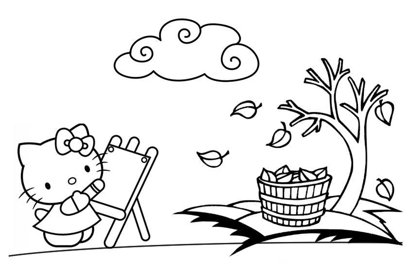Hello Kitty en otoño : Locos por Hello Kitty
