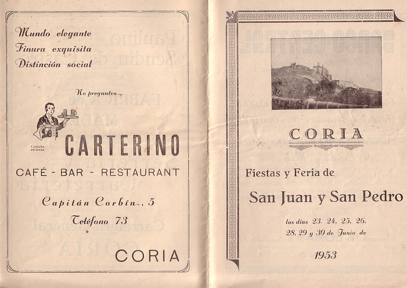 Sanjuanes de Coria 1953