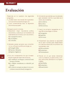 Evaluación - Historia 6to Bloque 5 2014-2015