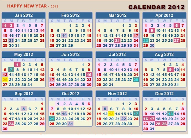 Hindu Calendar Year : Mdmindia new year calendar with government holiday lists