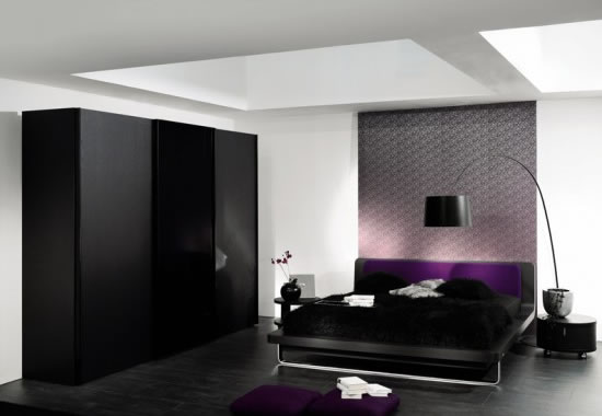 Large  Black BedroomWardrobe Design