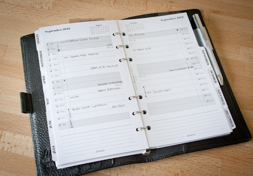Filofax Tabbed Month Per Page Vertical Planner