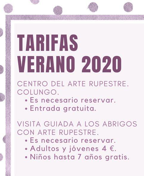 TARIFAS VERANO.