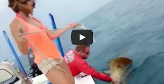 Girl Fishing Grouper