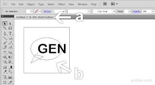 Tampilan outline - Cara Kembali ke Preview / Keluar Dari Outline - Illustrator AI