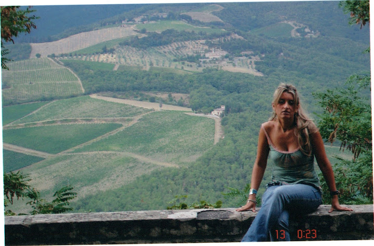 Me in the village of Ruffino, Tuscany