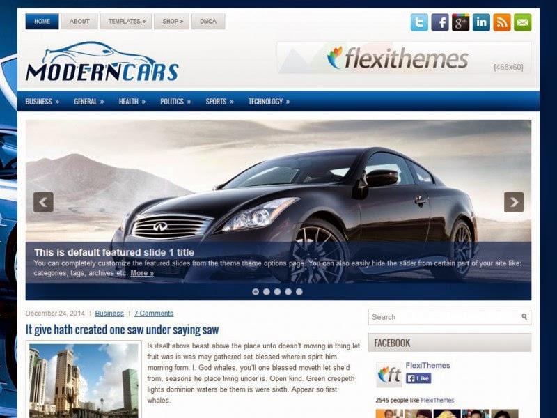 ModernCars - Free Wordpress Theme
