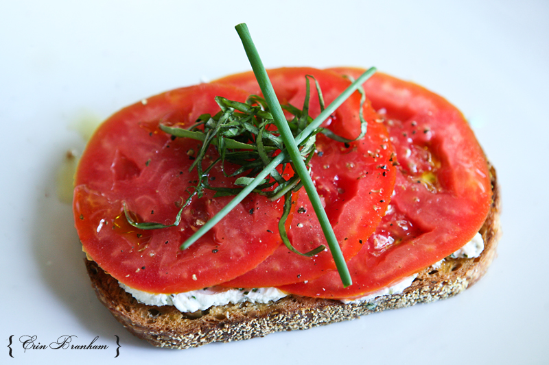 ... : Death By Laundry OR Open Faced Tomato & Herbed Goat Cheese Sandwich