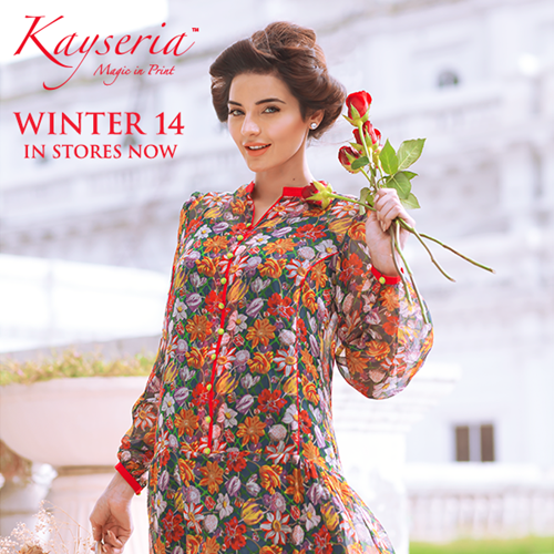 Kayseria Embroidered Winter Fabric 2014