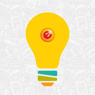 A cartoon light bulb with the eGumball, Inc. logo in the middle.