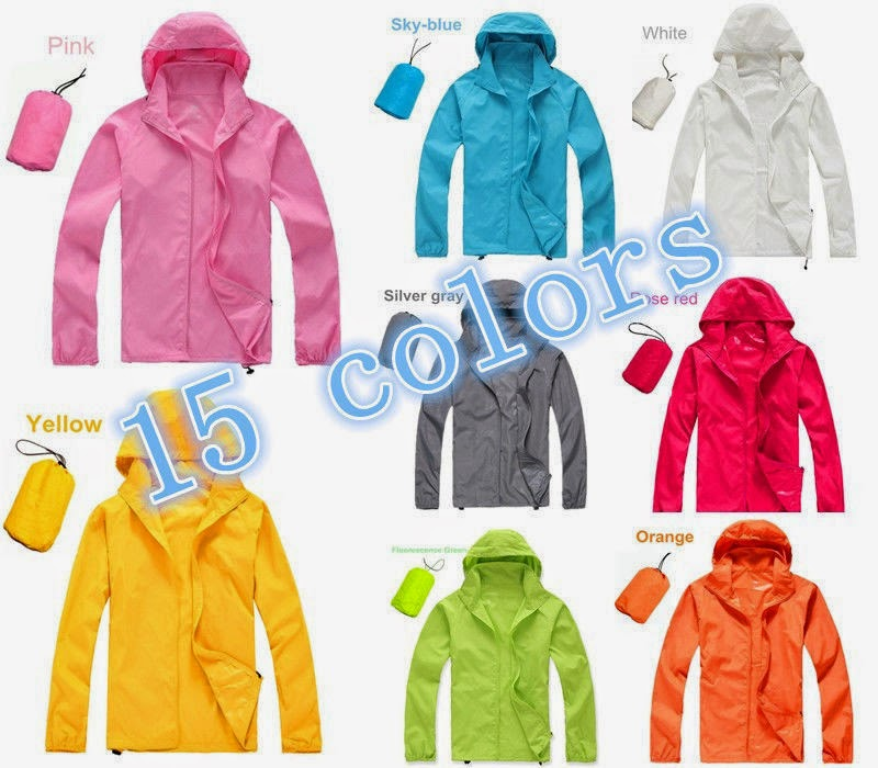 Cycling Windproof Waterproof UV-PROTECT Rain Coat Outdoor Sports Casual Jacket