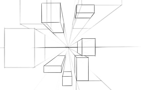 Fundamentos del dise o gr fico perspectiva basica for Exterior un punto de fuga