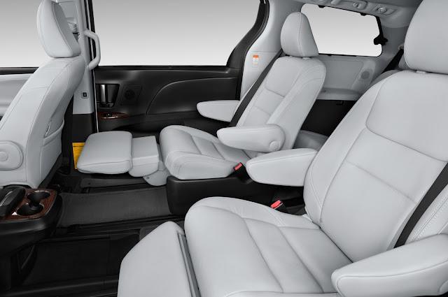 Interior of 2015 Toyota Sienna