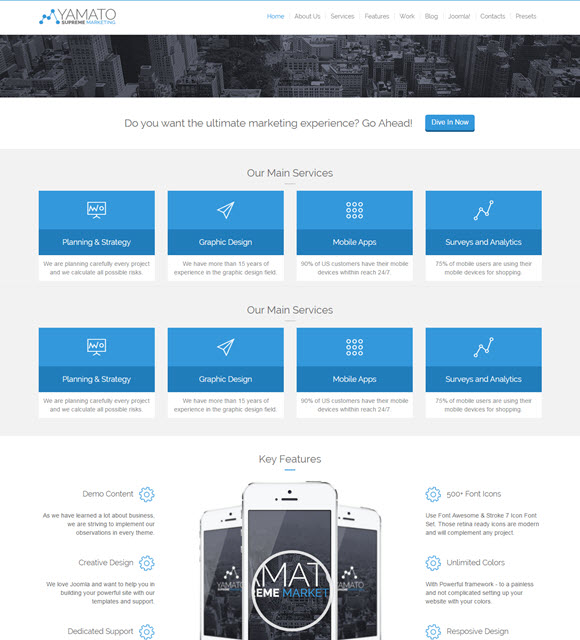 Yamato - Responsive Marketing Joomla Template