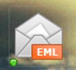 A desktop icon shaped like an envelope with EML written on it.