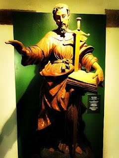 Imagem de São Paulo do período jesuítico-guarani, no Museu de San Ignacio Guazú