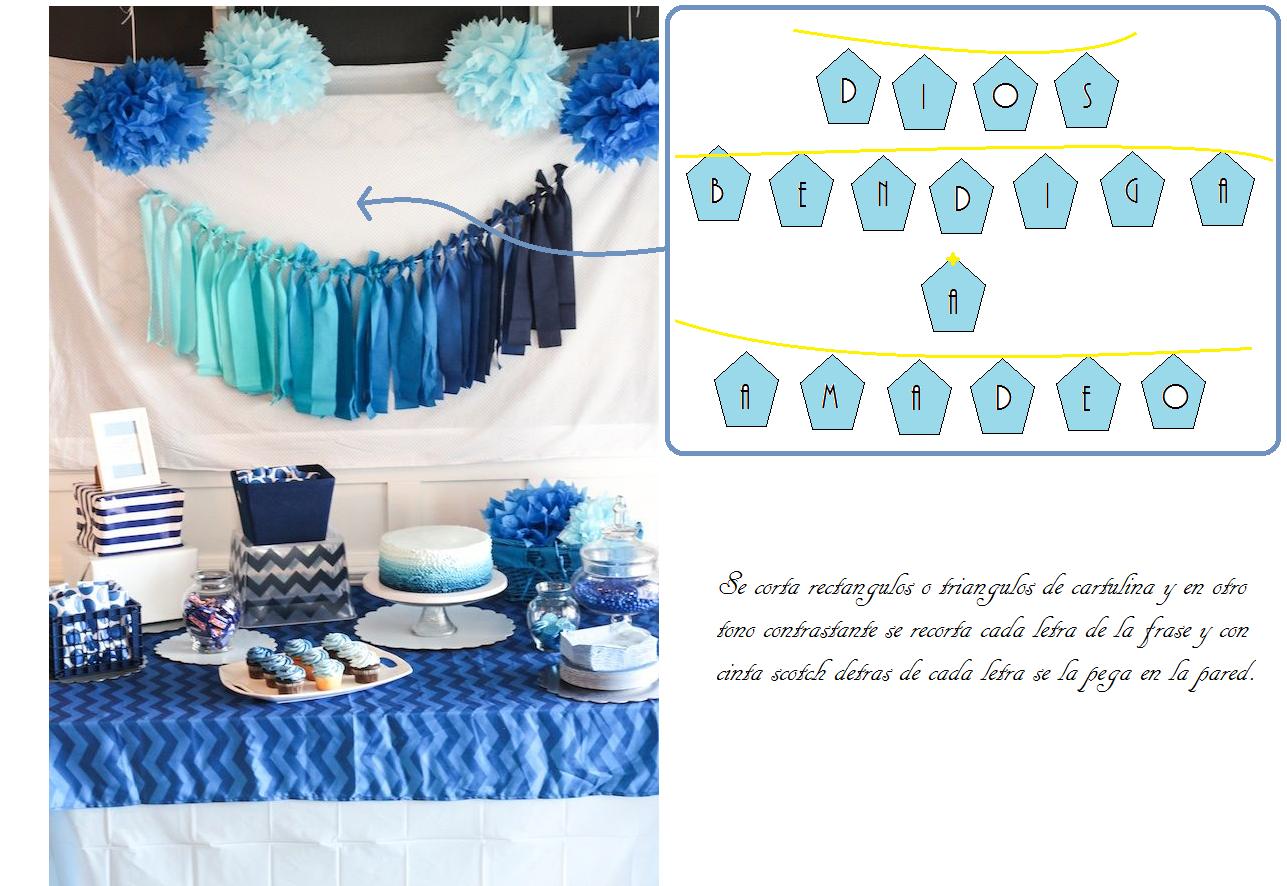 La linda esta de fiesta ideas para un bautismo y for Decoracion bautizo en casa