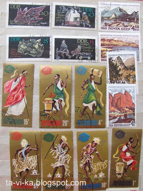 марки ГДР Бурунди