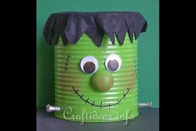 Reciclatex 4 Cuenta atrás para Halloween, Lata con cara de Frankestein