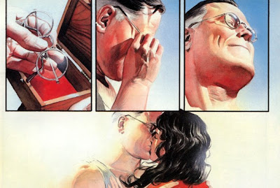 Kingdom Come superman kisses Wonder Woman