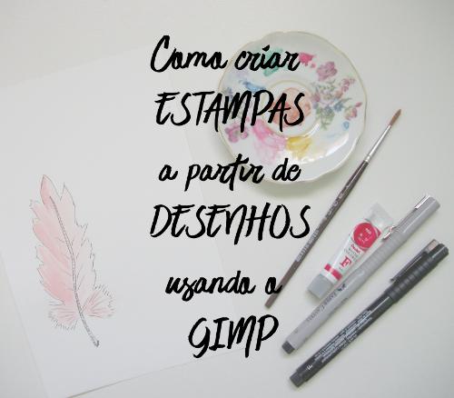 Como criar estampas a partir de desenhos usando o GIMP