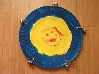 paper plate tambourine music craft preschool education for kids