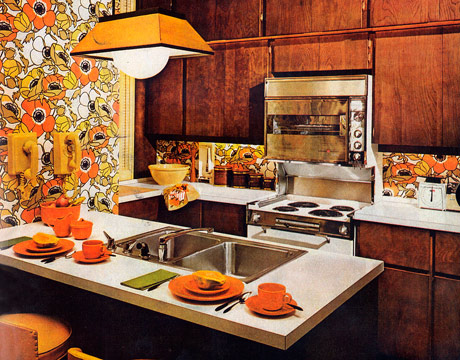 Vintage clothing love vintage kitchen inspirations 1960 39 s for 70s style kitchen cabinets