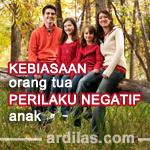 Perilaku Negatif Anak Disebabkan Oleh Kebiasaan Orang Tua